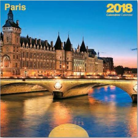 CALENDRIER  PARIS COULEUR 30X30