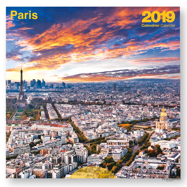 CALENDRIER 2019 PARIS COULEURS 30X30