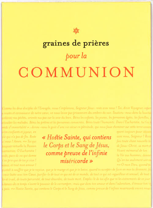 GRAINES DE PRIERES : LA COMMUNION