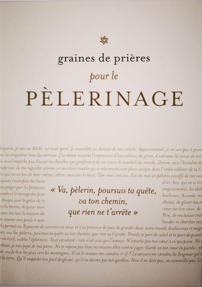 GRAINES DE PRIERES PELERINAGE