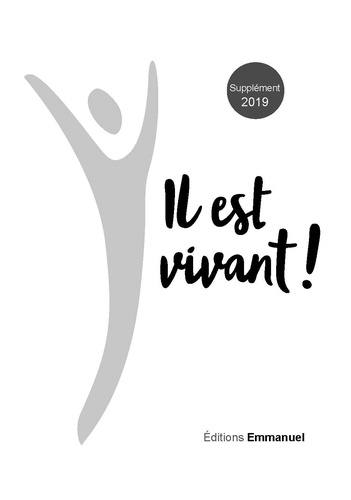 SUPPLEMENT 2019 CARNET DE CHANTS IL EST VIVANT !