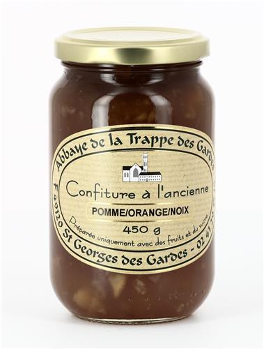 Confiture Pomme/Orange/Noix, pot de 450 g