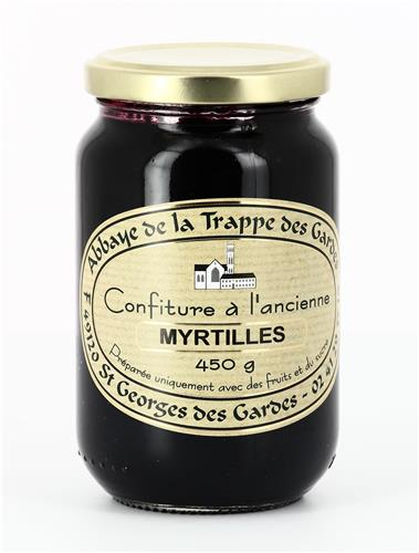 CONFITURE MYRTILLES, POT DE 450 G