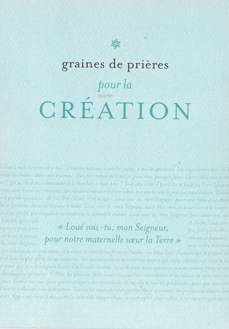 GRAINES DE PRIERES 4 - CREATION