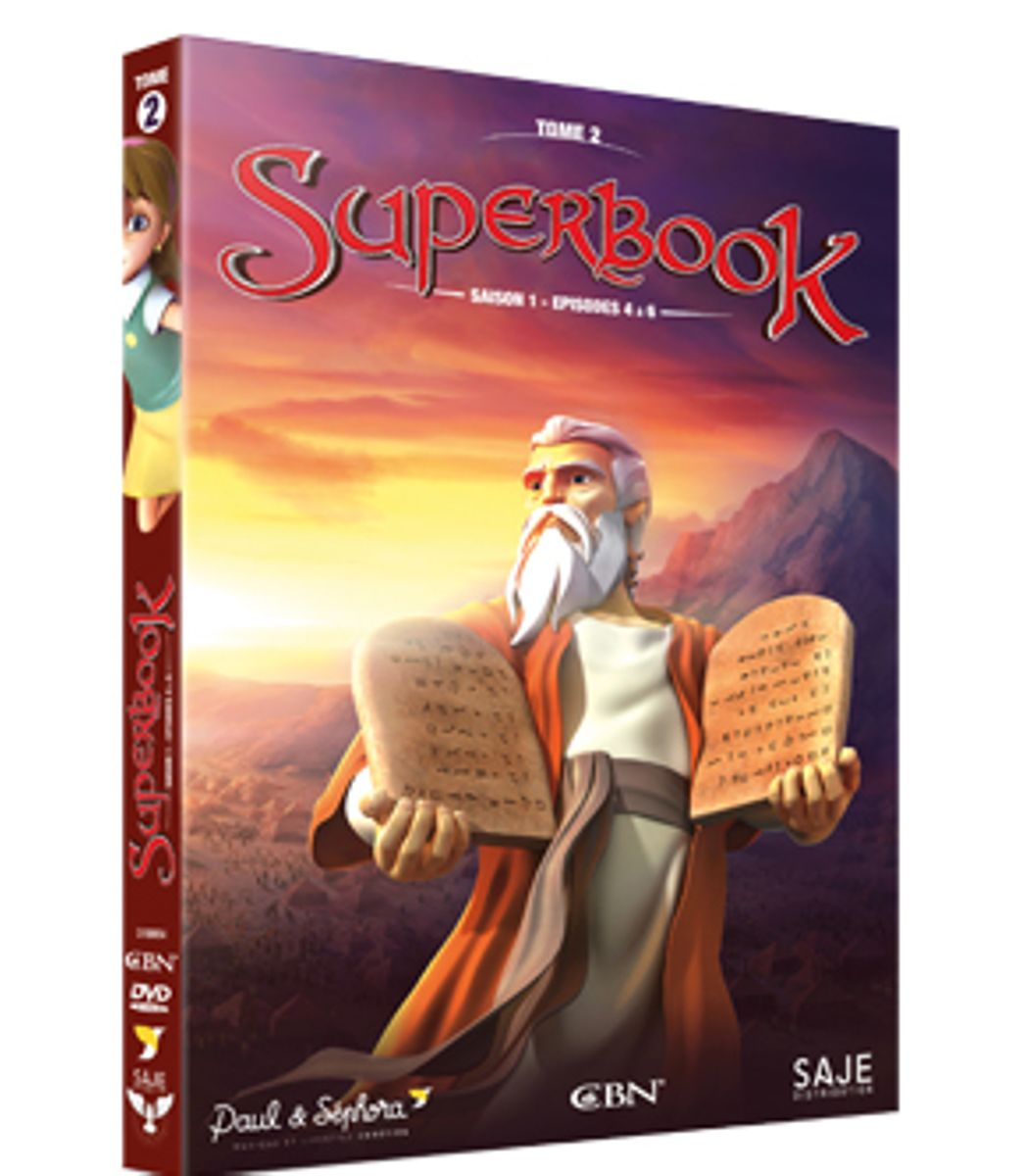 SUPERBOOK TOME 2 - SAISON 1 - EPISODE 4 A 6 - DVD